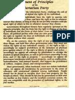 Libertarian Party Statement of Principles