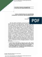 Adorno, Rolena, Nuevas Perspectivas de Los Estudios Coloniales Hispanoamericanos