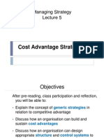 Lecture 4 Cost Advantage Strategies SN