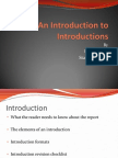 An Introduction to Introductions (2)