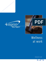 Wellness at Work Blue Paper by promotional products retailer 4imprint