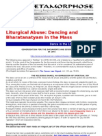 Dancing and Bharatanatyam in the Mass