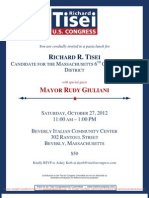 Pasta Lunch with Rudy Giuliani for Richard Tisei