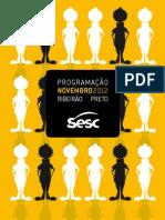 Programação de novembro do Sesc Ribeirão Preto