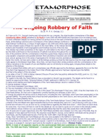 The Ongoing Robbery of Faith-fr p k George