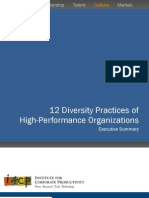 12 Diversity Practices of High-Performing Organizations Executive Summary