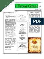 Grace Newsletter November 2012