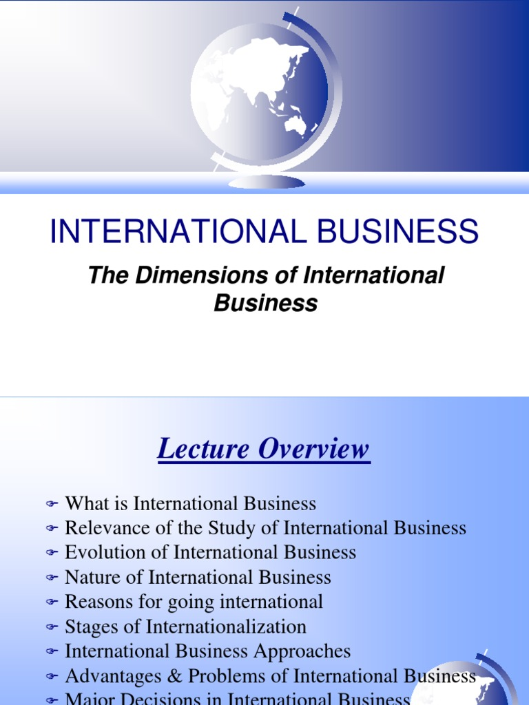 advantages of studying international business