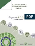 Rapport annuel de la TRN 2000-2001