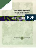 Rapport annuel de la TRN 1997-1998