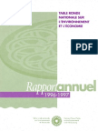 Rapport annuel de la TRN 1996-1997