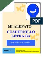 """Cuadernillo """"MI alefato"""" letra Ba (ب)"""