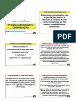 processo organizacional- comunicacao