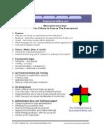 Assessments Criteria