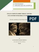 Ensayo Completo Sobre Verdad y Mentira - Nietzsche