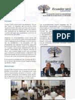 Memorias del II Encuentro Ecuador Será Sustentable 2012