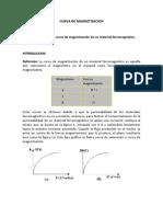 1 CURVA DE MAGNETIZACION (Laboratorio N°1)
