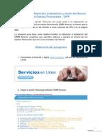 Guía para la obtención instalación y envío del Anexo de Gastos Personales - GPR