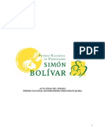 Acta Ganadores Premio de Periodismo Simon Bolivar Octubre 23 2012