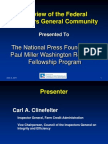 Overview of the Federal Inspectors General Community