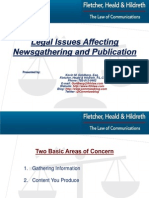 Legal Issues Affecting Newsgathering and Publication- Kevin M. goldberg