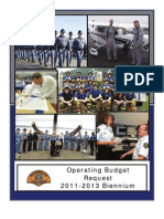 WSP Operating Budget Request 2012