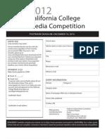 CCMA Contest Form 2012