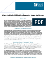 What the Medicaid Eligibility Expansion Means for Women 10-23-12