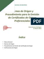 Certificado de Origen - Renzo Gomero
