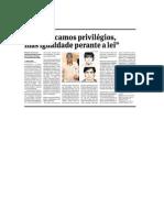 """""""Não buscamos privilégios, mas igualdade perante a lei"""" - matéria sobre transexualidade"""