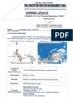 NDRRMC Update Swb No 5 Typhoon Ofel