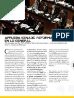Aprueba Senado Reforma Laboral en Lo General