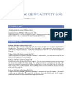North Sac Crime Activity Log (Oct 16, 2012 – Oct 22, 2012)
