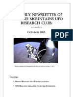 The Blue Mountains UFO Research Club Newsletter - October 2012