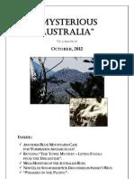 Mysterious Australia Newsletter - October 2012