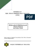 STPM Perniagaan Syllabus