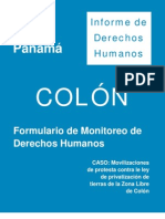 Formulario de Monitoreo de Derechos Humanos