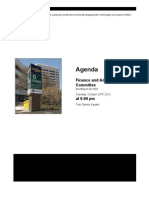 Finance and Administration committee agenda