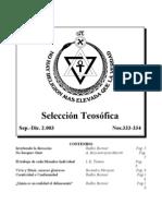 Selección Teosófica - Set 2003