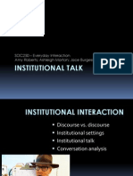 Institutional Talk