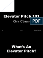 Elevator Pitch, O´Leary