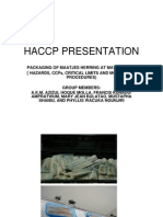 Haccp Presentation-power Point