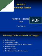 Lecture 4 Teknologi Enzim
