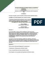 Reglamento de Construcciones de Df
