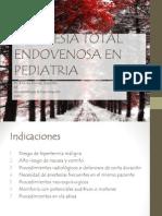 Anestesia Total Endovenosa en Pediatria