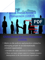 Global Human Resource Management (GHRM)