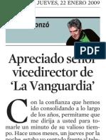 Quim Monzó. Apreciado Señor Vice Director de La Vanguardia