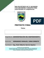 Administración del mantenimiento PLAN DE MANTENIMIENTO 2012