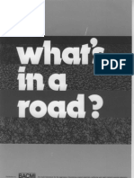 BACMI - What's in a Road
