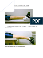 Exercise for Knee Injuries